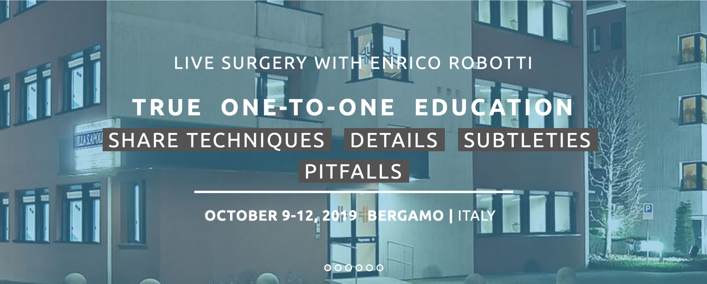 LIve Surgery With Enrico Robotti